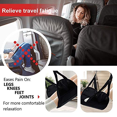 EZ Travels Footrest Hammock | Perfect Adjustable for Under Desk,Travel,Airplane, Car,Office, Kids,Chair Ottoman with Foot Rest for Gaming, Soft Cushion by EZ Travels (Image #2)