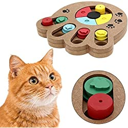 PYRUS Pet Intelligence Toy Eco-friendly Interactive Fun Hide and Seek Food Treated Wooden Pet Paw Puzzle Toy for small or midium dogs and cats