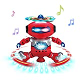 Electronic Dancing Robot Musical and Colorful Flashing Lights Toys Red