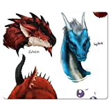 26x21cm 10x8inch gaming mouse mats cloth + rubber cloth Surface non-slip backing Dragon's Dogma