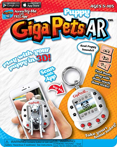 (Giga Pets AR Puppy Dog Virtual Pet, White)