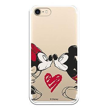 Carcasa Oficial de Disney Mickey Y Minnie Beso Clear para iPhone 7-8 - La Casa de Las Carcasas