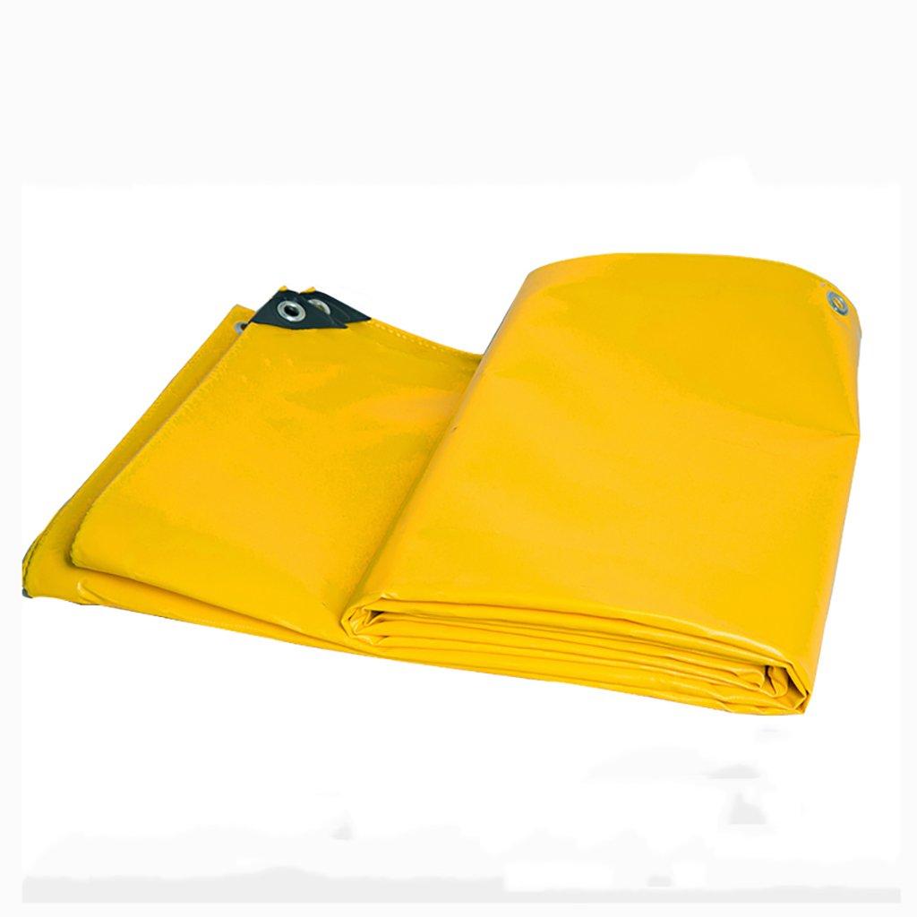 タータリン高強度厚い防雨PVC高強度ワイヤートラック区画貨物ヤードヤードテントクロス屋外0.47 mm 600 g/m2黄色7サイズ (サイズ さいず : 6*6m) B07D9LJTTC 6*6m  6*6m