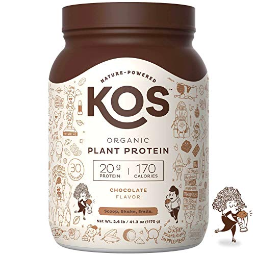 KOS Organic Plant Based Protein Powder - Raw Organic Vegan...