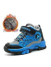 Verna's Bazaar Kids Hiking Boots Boys Waterproof Snow Boots for Running Sneakers for Boys Girls