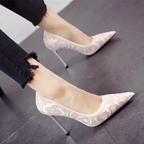 FLYRCX Europäischen Frühling und Herbst schlanken High Heel Schuhe seicht modische Persönlichkeit einzelne Schuhe einfach sexy Party Schuhe B07BFQ5RYT Tanzschuhe Produktqualität