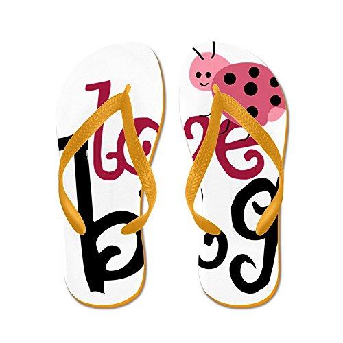 CafePress Lovebug - Flip Flops, Funny Thong Sandals, Beach Sandals Orange