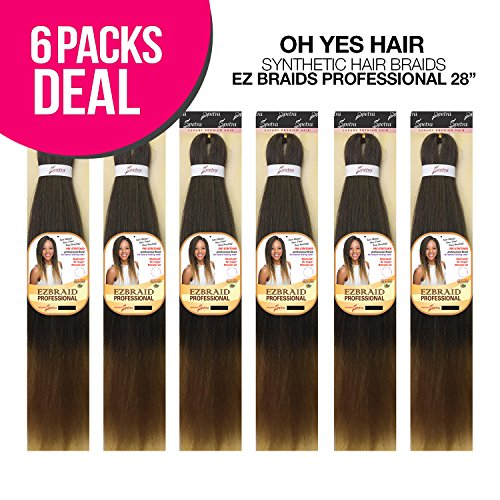 MULTI PACK DEALS! Oh Yes Hair Synthetic Hair Braids Ez Braids Professional 28'' (6-PACK, 1B) by Oh Yes (Image #7)