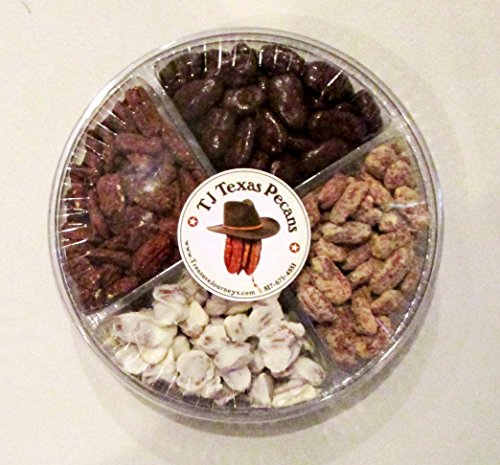 Sweet and Spicy TJ Texas Pecans Nut Gift Sampler 4 Flavors