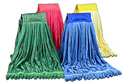 Large Microfiber Tube Mop | Industrial Wet Mop | Absorbent and Durable with Great Cleaning Power