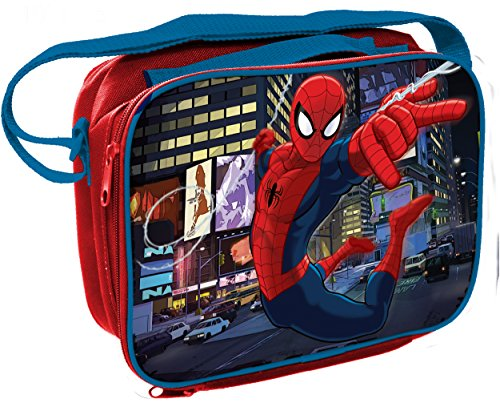 Spiderman Rectangular Insulated Lunch Bag with Shoulder (Spider Man Toy Bag)