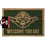 Aukuo Star Wars (Yoda) Door MAT GP85052 Doormat 100% Coir Rubber Back Door Mat