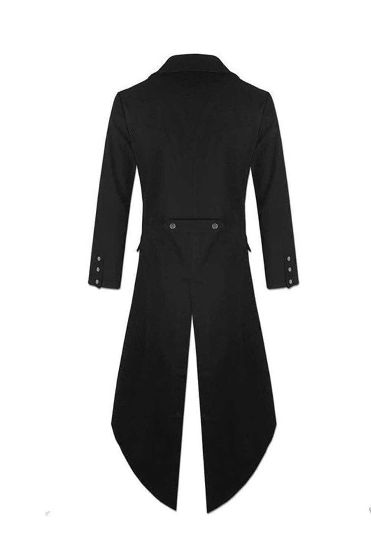 Amazon.com: Men Gothic Costume Jacket Vintage Swallow-Tailed ...