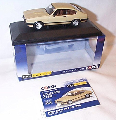 Corgi vanguards ford capri MK3 3.0 ghia oyster oro car 1.43 scale diecast model