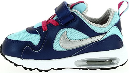 Nike - Nike Air Max Trax Tdv Kinder Sportschuhe Blau Leder Textil 644474 - Blau, 21