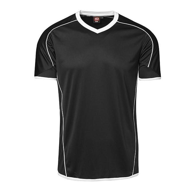 ID - Camiseta Ajustada de Deporte de Manga Corta Modelo Team Sport Hombre Caballero: Amazon.es: Ropa y accesorios