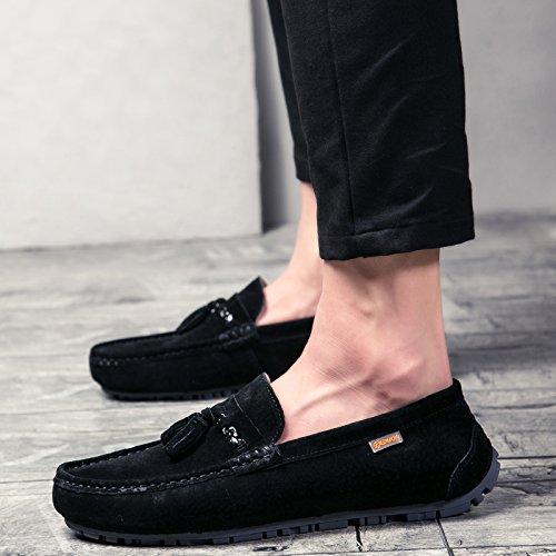 Show Shine Showshine Fun Heren Casual Glijvlakken Loafers Schoenen Zwart