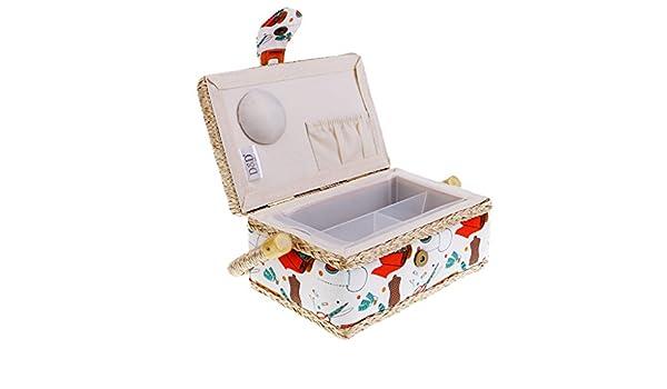 sharprepublic Gran Caja De Costura/Organizador con Patrones De Accesorios De Costura Surtidos Impresos - Naranja: Amazon.es: Hogar