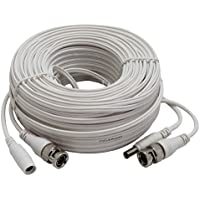 InstallerCCTV 100ft All-in-One Video HD-TVI HD-CVI AHD Analog 1080p Premade Cable for CCTV Security Cameras - White