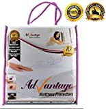 Advantage Mattress Protectors - Premium Cotton Terry Hypoallergenic 100 % Waterproof Best Fitted Protection Covers Against Bed Bugs, Dust Mites, Fluids, Allergens and Bacteria
