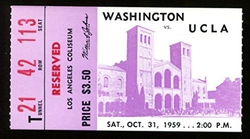 Used, 1959 Washington v UCLA Football Ticket October 31 for sale  Delivered anywhere in USA