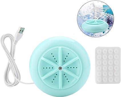 Lavatrice Da Viaggio Alimentazione USB bianco Akin Ragbare Mini Turbo Lavatrice Pieghevole Compatta Ultrasuoni Turbo