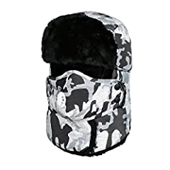 Feature: Material: nylon & cotton & faux fur Shape: windproof earmuffs cap Size/circumference: 21.65-23.23 inches Lining: flocking Package: 1*hat