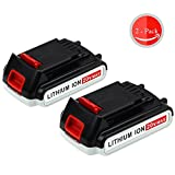 20V 2.5Ah for Black and Decker MAX Lithium Battery LBXR20 LBXR20-OPE LB20 LBX20 LBX4020 LB2X4020-OPE 2-packs GERIT BATT