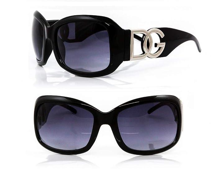 DG Eyewear ® Gafas de Sol mujer Moda - negro Nuevas con etiquetas - gafas de sol de gran tamaño Clásico Diseñador La Nueva Colleción, Model: DG ...