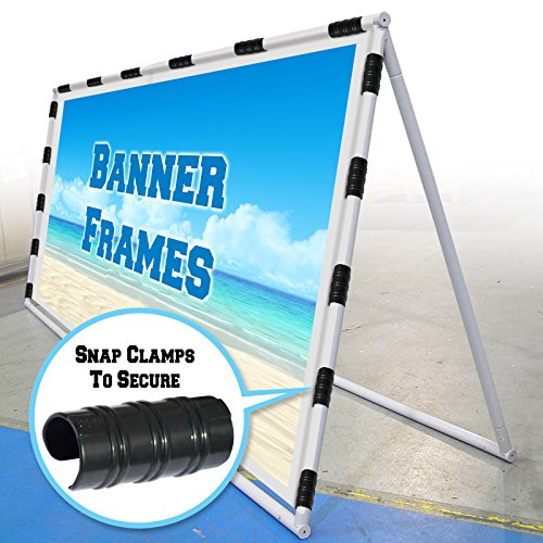 Black Pvc Frame - BenefitUSA Black Snap Clamp 1-1/4 inch x 3-1/8 Wide for 1-1/4 inch PVC Pipe Greenhouse Banner Frame Shelters, Pack of 10 (1-1/4 inch x 3-1/8 Wide)