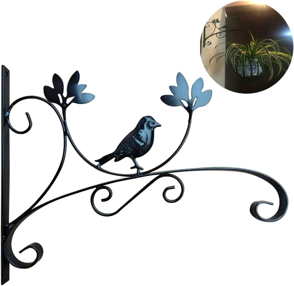 SUNERLORY Portavaso per Fiori Appeso a Parete Cesto da Giardino Decorazioni per Il Bagno Romantico Abbellimento del Bagno Ferro Forma di Animale Staffa Classica per Piante