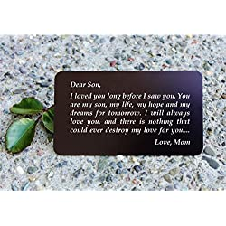 Engraved Aluminum Wallet Love Note Insert