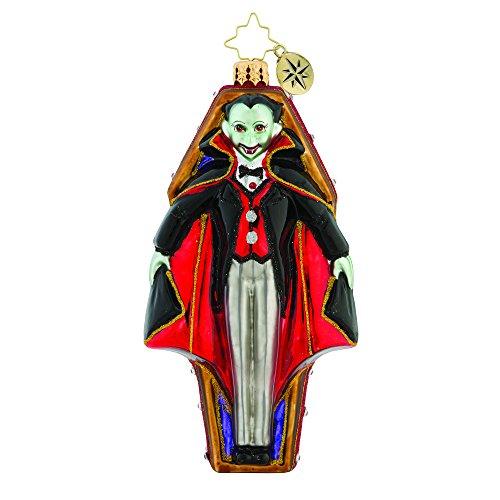 Christopher Radko Radko Vamping Up Vampire in Coffin Glass Ornament Halloween Made in Poland (Glass Halloween Ornament)