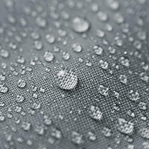 Tenda a Vela da Sole Impermeabile,TAOPE 2x3m Tendalino Ombreggiante Rettangolare Anti-UV 95% Tessuto Oxford, per Attività all'aperto/Giardino/Spiaggia/Patio/Festa/Piscina/Pergolato/Tettuccio -Grigio