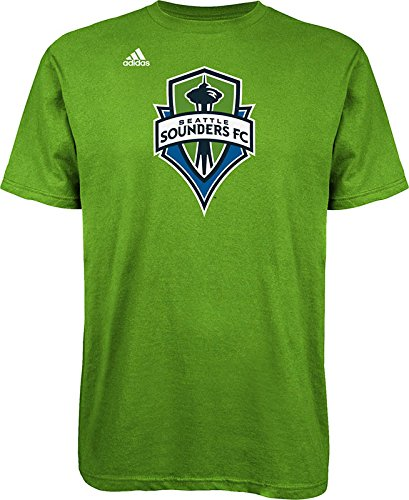 MLS Seattle Sounders FC Men's Logo Set Tee, Small, Rave Green