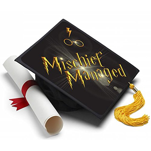 Tassel Toppers Mischief Managed Graduation Cap Decorated Grad Caps - Decorating Kits