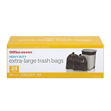 Amazon.com: Office Depot bolsas de basura, 45 litros, caja ...