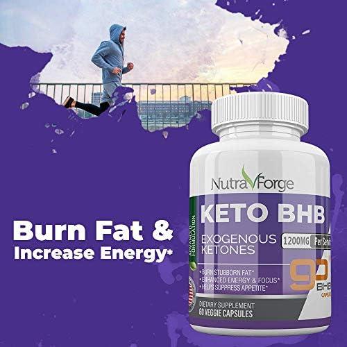 Keto BHB Pills 1200mg Ketogenic Keto Pills for Women and Men Ketogenic Carb Blocker Best Keto Diet Pills for Women and Men Helps Boost Energy & Metabolism, 60 Capsules 6