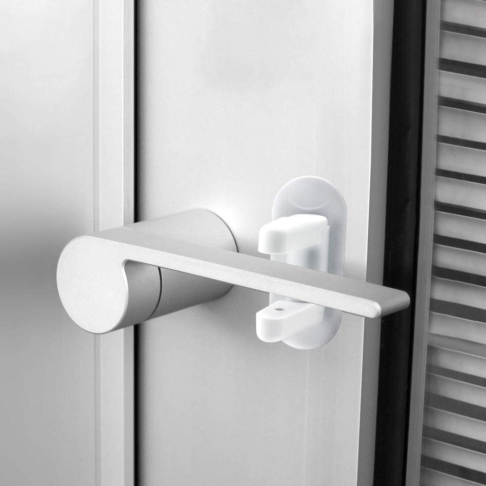 White Door Lever Lock Orifa Door ORIFA Child Proof Baby Lock for Lever Handle Doors with 3M Adhesive 2 Pack