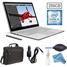 Microsoft Surface Book (256GB, 8GB RAM, Intel Core i5) + 15.6-Inch Microsoft Surface Carrying Case + 3 in 1 Premium Cleaning Kit (Cleaning Solution,Cloth,Keyboard Dust Blower) + Car Charger Bundle