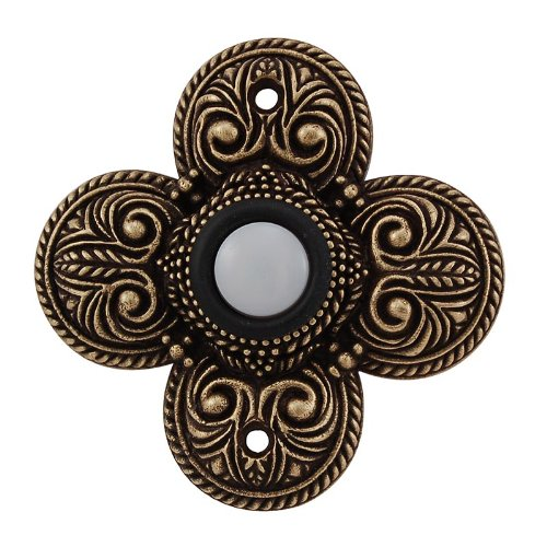 Vicenza Designs D4009 Napoli Doorbell, Antique Brass by Vicenza Designs