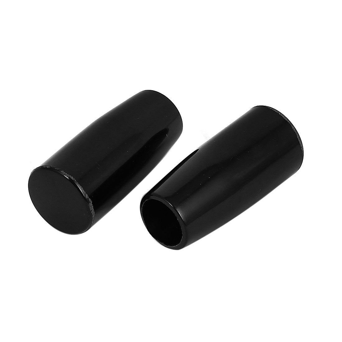 M8 Female Thread 40mm Long Plastic Handwheel Taper Grip Handle 2pcs