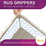 What to Put Under Furniture on Hardwood Floors Acksonse Rug Grippers 8 pcs Anti Curling and Non Slip Rug Gripper Carpet Gripper for Corners and Edges Renewable Gripper for Carpet and Hardwood Floors Safe for Wood Floors Indoor & Outdoor Rugs US