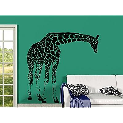 Giraffe Wall Decals Animals Vinyl Sticker Living Room Decor Baby Kids Wall Decor Home Decor Vinyl Nursery Bedroom Decor C548: Home & Kitchen