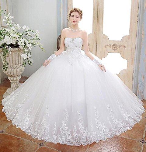 Damen Bandeau weiß Beauty Kleid KA elfenbeinfarben Cp5vqvn