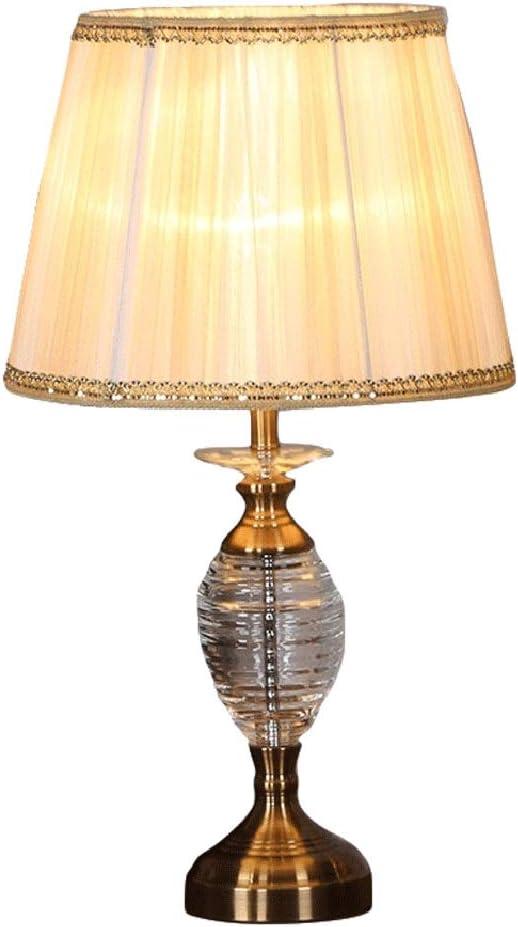 Lámpara de Mesa Americana Lámpara De Cristal Retro Pantalla De ...