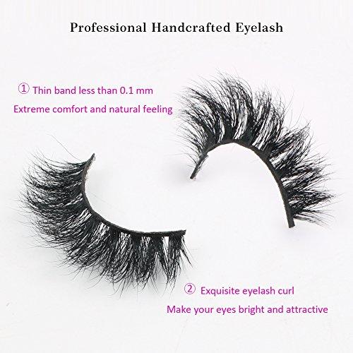 Beauty : Sassina Mink Lashes 3D Mink False Eyelashes Long Lasting Lashes Natural Lightweight Mink Eyelashes Glitter Packaging New 1 Pair DM30