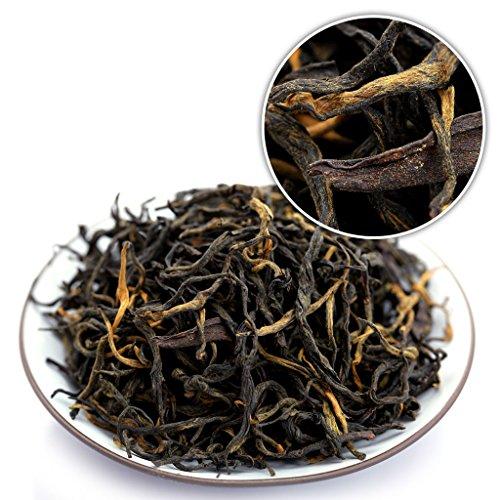 GOARTEA 100g (3.5 Oz) Organic Yunnan FengQing Golden Buds Dian Hong Dianhong Chinese Black Tea