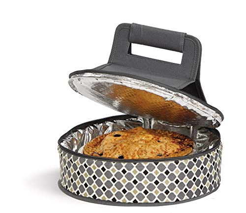 (Picnic Plus Round Thermal Insulated Pie,Cake, Dessert, Appetizer Carrier Holds Up to a 12