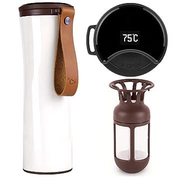 12154669380 Travel Mug, Vacuum Flask, Smart Coffee Tumbler, Kiss Kiss Fish 430ml Touch  Interactive